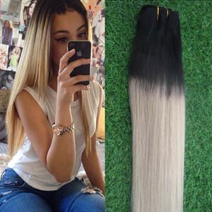 virgin brazilian straight hair weaves T1B 613 two tone ombre brazilian hai 100% Human Hair Bundles 1PCS