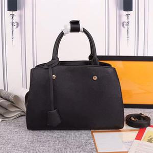 حقيقي جلدي كلاسيكي حقائب اليد النقش محفظة مونتين حقيبة محفظة مشبك حقيبة طباعة أكياس CROSSBODY زهرة واحدة في الكتف