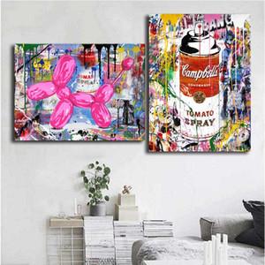 Mr Brainwash Graffit Pintura Da Lona Retrato Da Parede Poster E Imprimir Decoração Da Casa Decorativa