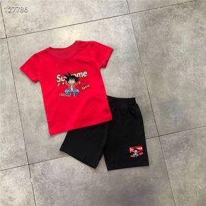 2020 Baby Boys Girls Designer T-shirts Shorts Suit Brand Tracksuits 2 Kids Clothing Set Hot Sell Fashion Summer Children's 100%cotton M09