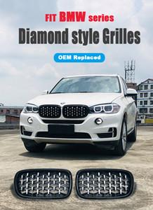 Новый гриль в алмазном стиле Для BMW X5 F15 X6 F16 2015-2016 Racing Grills Передняя решетка для почек Три стиля