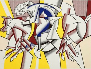 Pintura Roy Lichtenstein óleo en la lona del arte pop de The Red Caballero Home Decor pintado a mano de la impresión de HD Wall Art Cuadros lienzo 191030