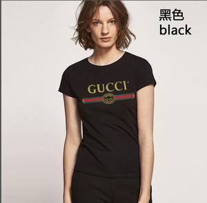 2020 년 브랜드 여름 탑 여성 패션 복장 VOGUE Letter Print Harajuku T Shirt 빨간색 검정 여성 T- 셔츠 Camisas Tees Ladies Tshirt