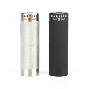 Authentics Lvs Martian 18350/18650 Semi Mech MOD pour atomiseurs de réservoirs MTL 22mm / 24mm 510 boîte à filets Mod