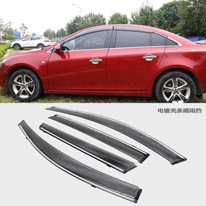 MONTFORD ABS Plastic Window Visor Awnings Vent Sun Rain Guard Shield Deflector Fit For Chevrolet Cruze 2009 2010 2011 2012 2013