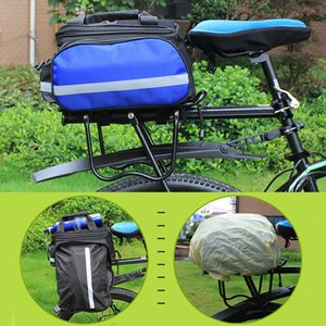 Bicycle Bag Removable Carrier Rear Rack With Reflective Strips Canvas Saddle Accessories Travel Zipper Pannier Waterproof Panniers Bags