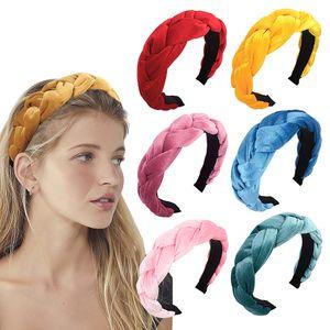 Nudo Diadema Diademas Velvet Twist Hair Sticks Head Wrap Headwear para niñas Accesorios para el cabello Mujeres Niños Trenza Hair Sticks 20 Estilos M265