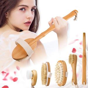 Naturborste Bath Bürsten-Satz Exfoliating fördern Blut-Zirkulation Massagebürste Holz Körper-Gesicht Dry Brush