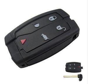 Yüksek kaliteli araba anahtarı landrover uzaktan akıllı anahtar kabuk için 4 + 1 düğme uzaktan kapak ücretsiz kargo