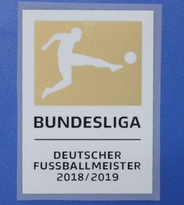 Nouvelle arrivee! Or Bundesliga Deutscher Fußballmeister 2018/2019 Champion League Bundesliga Football 2019 Patch Bundesliga livraison gratuite