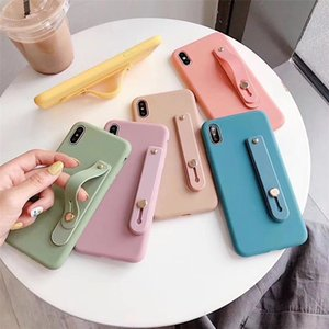 Candy Color Wrist Strap Bracket Soft designer luxury phone case For iphone 11 pro max case iphone 11 case coque iphone 11