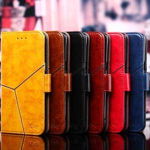 For Huawei Enjoy 10S 10 9S 9 8 7 Plus 9e 8e 7S 6 5 G9 Lite Luxury Retro Splice Flip Leather Mobile Phone Case Stand Cover Bag