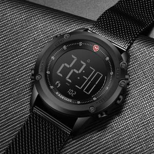 Passo KADEMAN Men Watch Digital Militar Sports Contagem Relógio TOP Marca de luxo de couro à prova d'água moda masculina de pulso relogio