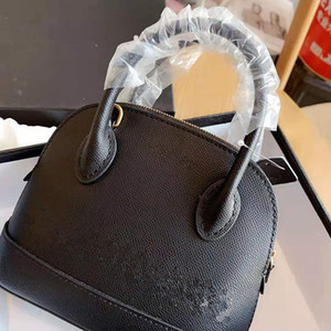 Cowhide Word Mother and Daughter Hand The Bill of Lading Genuine Leather Handbag Shoulder Bags Shell Package High Quality Fashion Female