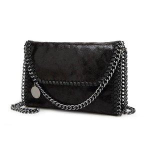 Designer-neue Frauen-Mitteilung-Beutel Pu Art und Weise bewegliche 2 Ketten Tasche Woven Schulter bolsa feminina Carteras mujer Handtasche