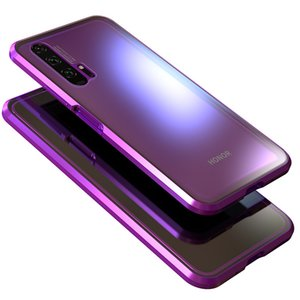 Magnetic Adsorption 360 full Case For Huawei Honor 20 Pro Tempered Glass The front Back Cover For honor 20 phone Cases Metal Bumper