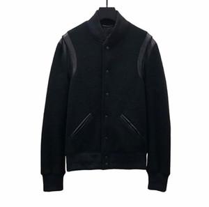 İyi Sürüm Avrupa Ceket Klasik Siyah Ve Beyaz Beyzbol Ceket Erkekler Ve Kadınlar Yüksek Kaliteli Tasarımcı Ceket HFBYJK240