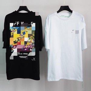OFF European and American tide ow white hip-hop printed short-sleeved casual sports loose men and women T-shirt111