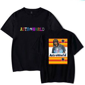 AstroWorld печати Mens конструктора Tshirts моды Сыпучие письмо Печать с коротким рукавом мужские Tees Casual Самцы одежды