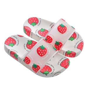 Summer children slippers cartoon shoes fruit strawberry boys and girls non-slip indoor slippers beach fashion