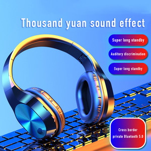 Headband Wireless Bluetooth Earphon 5.0HIFI Sound Quality 3D Stereo Noise Reduction Sports Gaming Headset Support SD Card With Mic