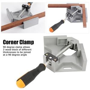 Único punho 90 ° ângulo direito da braçadeira Quick Release Canto braçadeira de vidro tanque Picture Frame fixo Clipe ferramenta de mão de alta qualidade