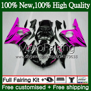 Bodys For YAMAHA YZF R6 S YZF600 YZFR6S 06 07 08 09 102MF8 Rose flames YZF-600 YZF R6S YZF-R6S 2006 2007 2008 2009 Fairing Bodywork Kit