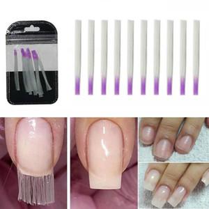 Azure Beauty forma de uñas de fibra de vidrio para las uñas de Seda de Construcción de Manicura Herramienta de Extensión de Seda Set Nail Form 10 unids / pack