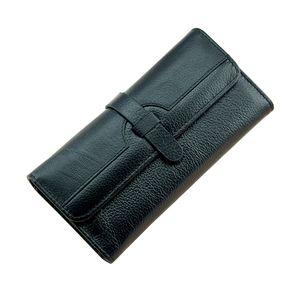 100% in pelle di vacchetta Lychi Portafoglio donna Trifold lungo in vera pelle frizione borsa Hasp femmina cellulare borsa ragazza titolare della carta Y19051702