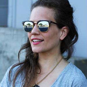 Diseño de marca 2020 caliente venta medio marco gafas de sol de las mujeres de los hombres gafas de sol al aire libre gafas de moda UV400 gafas Polaroid lente de cristal