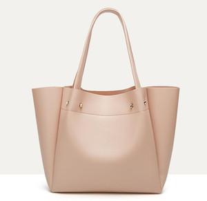 Designer Donna colore solido Tote Bags di grande capienza Sacchetto di Tote di lusso Lady Oversize Handbag