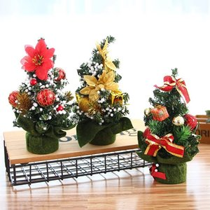 Weihnachtsbaum Weihnachtsschmuck Holiday Party Shopping Desktop Ornament Baum 20cm Mini Xmas Day Mall Dekorationen XD21037
