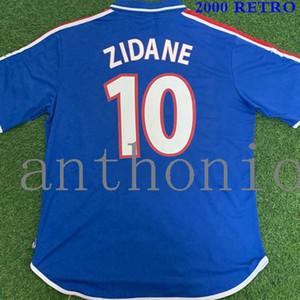 Top 2000 FRANCIA RETRO Zidane HENRY THURAM VINTAGE Maglia FOOT qualità della Tailandia del pullover di calcio delle uniformi 1996 Magliette da calcio PLATINI 1984