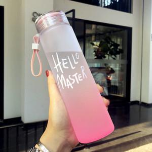 Nuova bottiglia di plastica per lo sport dell'acqua 500 ml Portatile corda bambini Drinkware Outdoor tenuta a prova di perdite Gourde arrampicata bottiglie di acqua