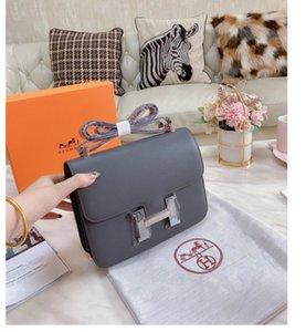 여성 고품질의 메신저 레저 작은 정사각형 가방 항공 스튜어디스 가방 간단하고 관대 한 실버 버클