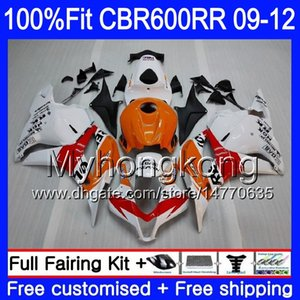 Inyección Repsol naranja rojo Para HONDA CBR 600RR 600F5 CBR600RR 09 10 11 12 282HM.10 CBR 600 RR F5 CBR600 RR 2009 2010 2011 2012 Fairings
