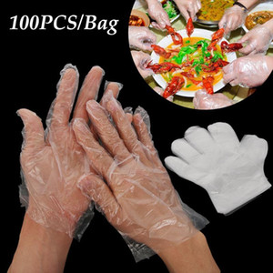 1000pcs set Plastic Clear Disposable Gloves Polythene Avoid Direct Touch Catering Hairdressers Butchers Vegetable