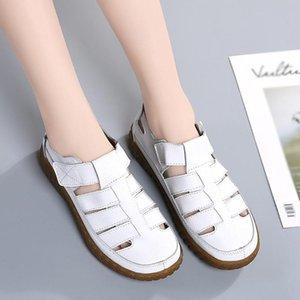 2020 Women's Sandals Fashion Retro Solid Color Shoes Women Outdoor Casual Beach Sandals Ladies Flat Shoes Soft #5.21
