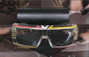 2019 moda new lüks erkekler ve kadınlar güneş gözlüğü 4024-C dikdörtgen güneş gözlüğü şeffaf ayna düz gözlük üreticileri toptan kemer