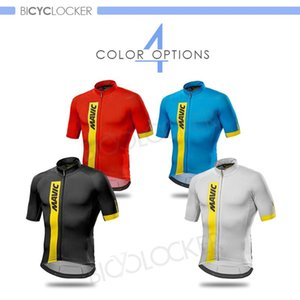 Men Short Sleeve Cycling Jerseys MAVICING Pro Team Riding Tops Fit Comfortable Sun-protective Road Bike MTB Shirt Summer Jerseys
