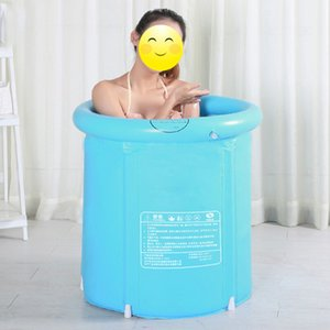Portable Foldable Plastic Bathtub Trays Thickened Adult Inflatable Bathtub Home Single SPA Massage Pool Sturdy Bathing Bucket