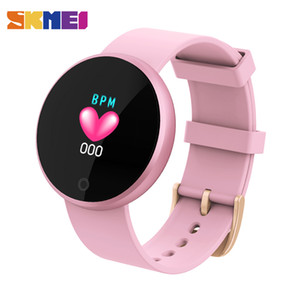 SKMEI Bluetooth Smart Ladies Montres de mode intelligente Montre Femme Calories HeartRate Montre Beauté numérique Wristwatch B36 relogio