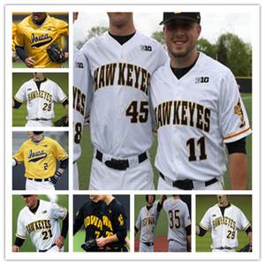 Universidad del jersey de béisbol de Iowa Hawkeyes para mujer para hombre de la Juventud cosido cualquier nombre y cualquier envío libre nmber orden de la mezcla