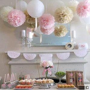 10 adet / grup 30 cm Doku Kağıt Pom Poms 12 inç Çiçek Kağıt Topu Düğün Doğum Günü Dekorasyon Ev Partisi Malzemeleri Sahte Çiçek