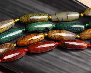 14x40mm della pietra preziosa perline colorate Agate Beads naturali fai da te borda liberamente per monili che fanno Strand 15 pollici all'ingrosso di goccia Shippng