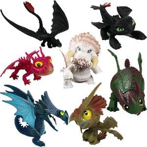 7 adet / takım Ejderhanı 3 Aksiyon Figürleri Oyuncaklar Dişsiz Kafatası Gronckle Ölümcül Nadder Gece Fury Ejderha Rakamlar çocuk oyuncakları