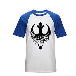 Hommes Rebel Alliance Logo T-shirt Coton D'été Manches Courtes Wars Tees Top Hommes Vêtements Star T Shirt Tops Hommes Tees Polos