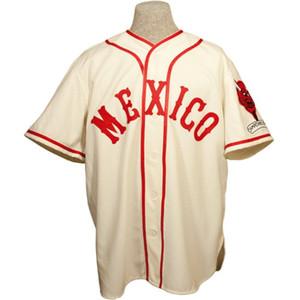 مكسيكو سيتي الشياطين الحمر 1957 الرئيسية جيرسي 100٪ مخيط التطريز خمر البيسبول الفانيلة مخصص أي اسم أي عدد شحن مجاني