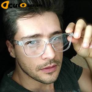 2019 Retro erkek Şeffaf gözlük temizle lensler PC Komotratör Kare gözlük çerçeveleri okuma kadınlar için gözlük erkek Gözlük