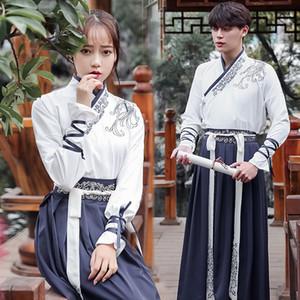 Unisexe Costume de Danse Folklorique Chinois Elegant Hanfu Pour Femmes Costume Classique Hommes Traditionnel Ancien Chinois Vêtements DWY1330